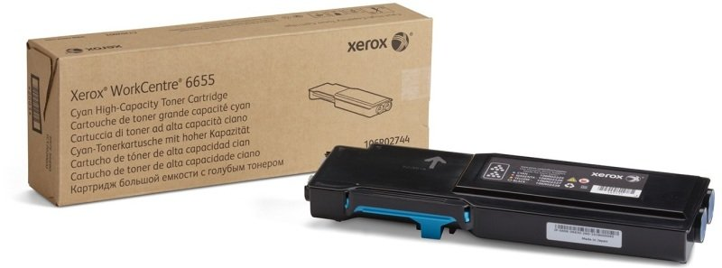 Xerox 106R02744 High Yield Cyan Toner Cartridge