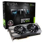 EXDISPLAY EVGA GeForce GTX 1070 FTW GAMING ACX 8GB GDDR5 DVI-D HDMI 3x DisplayPort PCI-E Graphics Card
