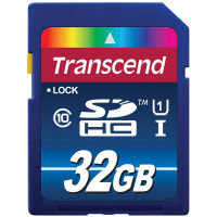 Transcend SDHC Class 10 UHS-I (Premium) 32GB  Flash memory card