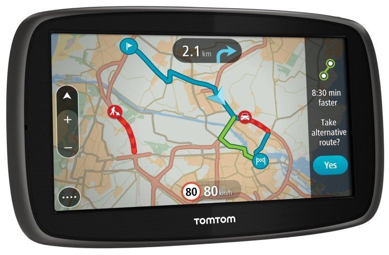 TomTom GO 61 6&quot Sat Nav Lifetime Traffic & World Maps