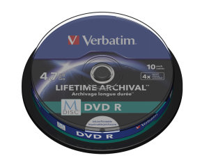 Verbatim M-Disc DVD R 10 Pack Spindle