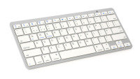 Xenta Wireless Bluetooth Keyboard - Silver & White