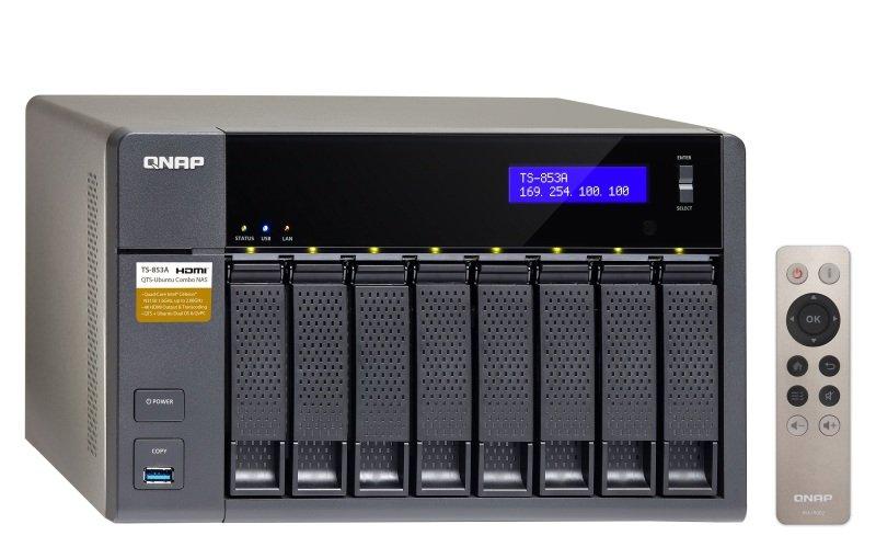 QNAP TS-853A-4G 80TB (8 x 10TB SGT-IW) 8 Bay Desktop NAS with 4GB RAM
