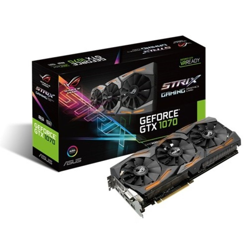Asus GeForce GTX 1070 8GB GDDR5 DVID HDMI DisplayPort PCIE Graphics Card