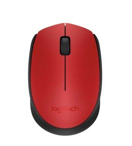Logitech M171 Wireless Mouse - Red & Black