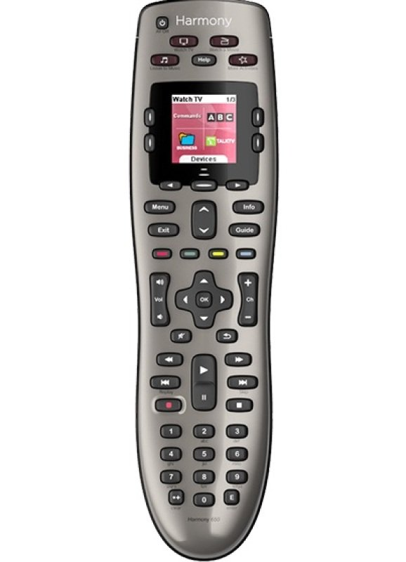 Logitech Harmony 650 Remote  Universal Remote Control  Display  Lcd  Infrared