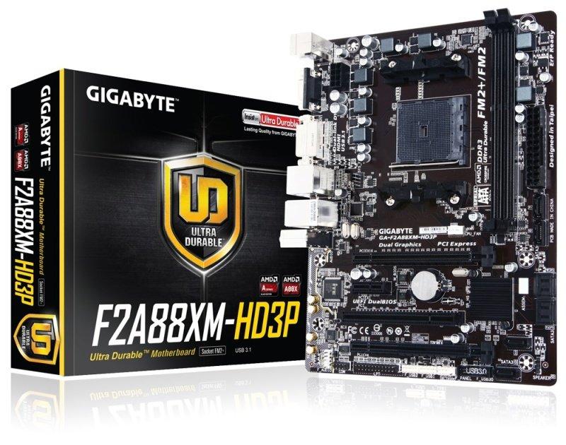 Gigabyte GAF2A88XMHD3P Socket FM2 VGA DVID HDMI Micro ATX Motherboard