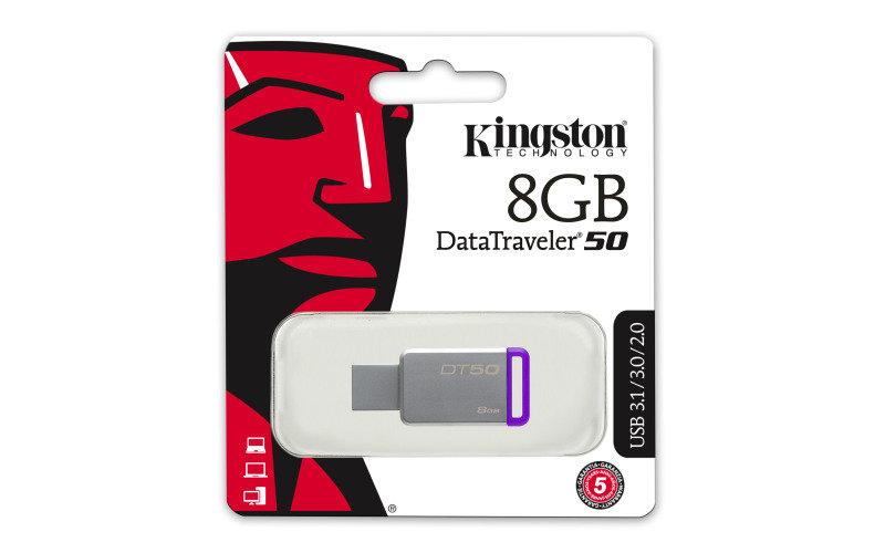 Kingston DataTraveler 50 8GB USB 3.0 Flash Drive