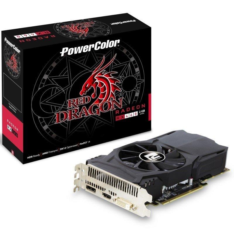PowerColor Radeon RX 460 Red Dragon 2GB GDDR5 DualLink DVID HDMI DisplayPort PCIE Graphics Card
