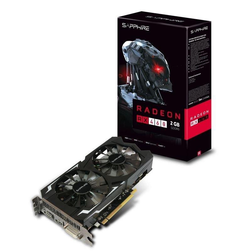 Sapphire Radeon RX 460 2GB GDDR5 DVID HDMI DisplayPort PCIE Graphics Card