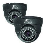 Onyx 800TVL Fixed Lens 25m IR Dome Camera Twin Pack