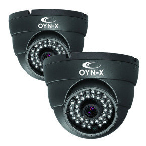 Onyx 800TVL Fixed Lens 25m IR Dome Camera Twin Pack
