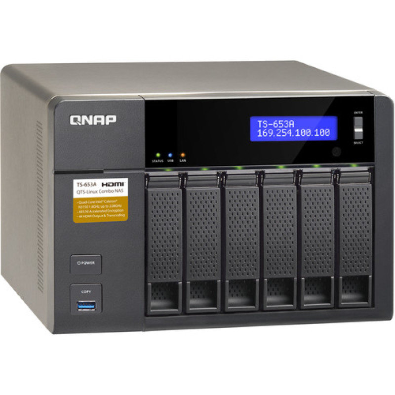QNAP TS-653A-4G 60TB (6 x 10TB SGT-IW) 6 Bay Desktop NAS with 4GB RAM