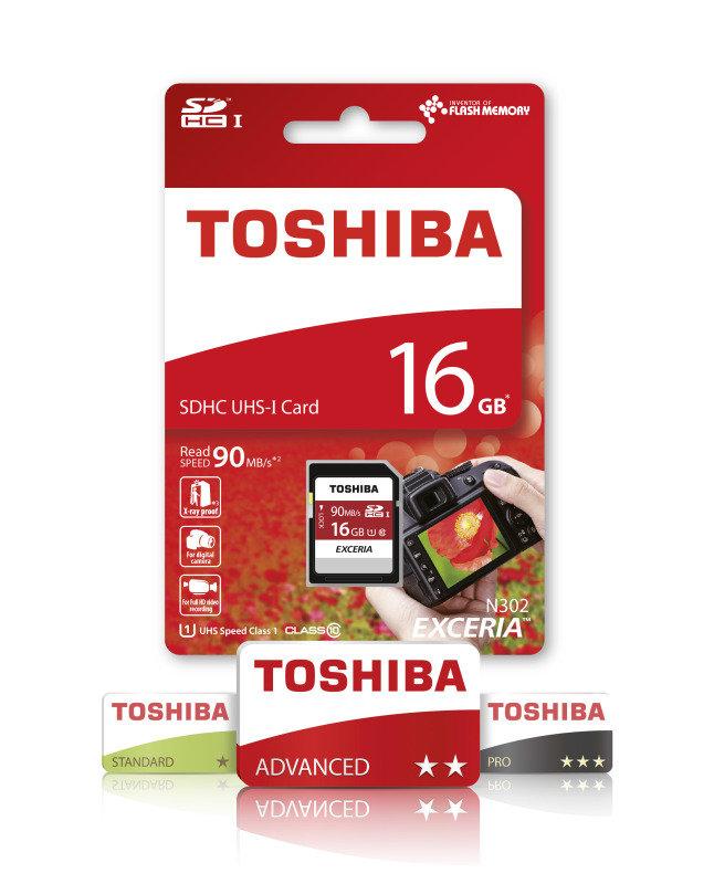 Toshiba 16GB Exceria N302 SD Card