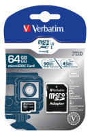 Verbatim Pro U3 64GB* Micro SDXC Card