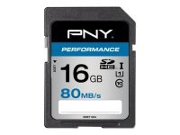 PNY Performance 16GB SDHC UHS-I flash memory card