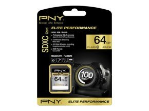 PNY Elite Performance 64GB SDXC UHS-I flash memory card