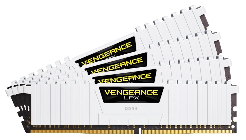 Corsair Vengeance LPX 32GB (4x8GB) DDR4 DRAM 3200MHz C16 Memory Kit - White