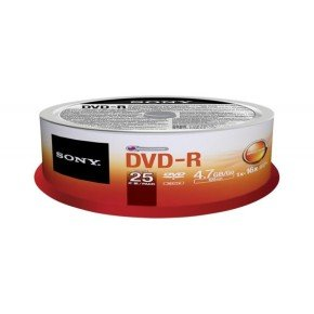 Sony Dvd-r 16x Spindle-bulk 25 Pcs - .