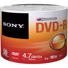 Sony DVD-R 16x Spindle Bulk 50Pcs