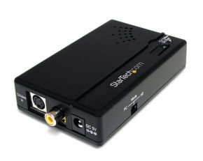 StarTech.com Composite and S-Video to HDMI® Converter with Audio