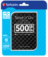 Verbatim Portable Hard Drive 500GB Black
