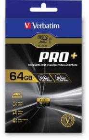 Verbatim Pro+ microSDXC U3 64GB SD Memory Card