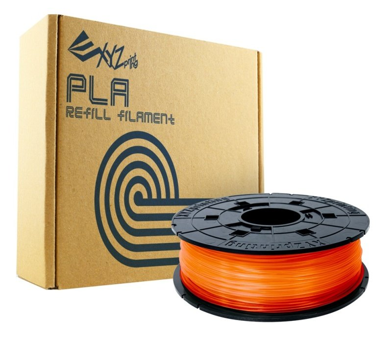 Xyz Pla Filament 1.75mm Clear Tangerine