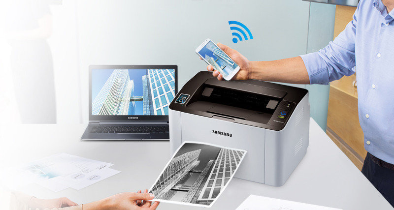 EXDISPLAY Samsung M2026w Wireless Black and White Laser Printer