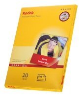 Kodak Premium Photo Gloss 240g 4* A6 Paper - 20 Sheets