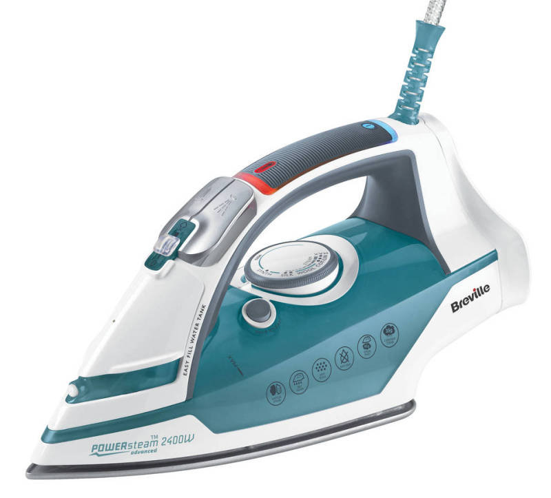 Breville Power Steam Iron Bluewhite 250ml Tank 2400w