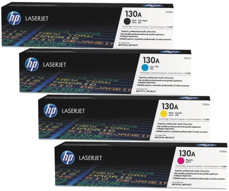 HP Color LaserJet 130A CMYK Bundle Toner Cartridges