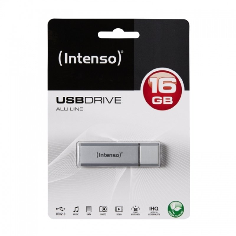 Intenso ALU 16GB USB 2.0 Flash Drive