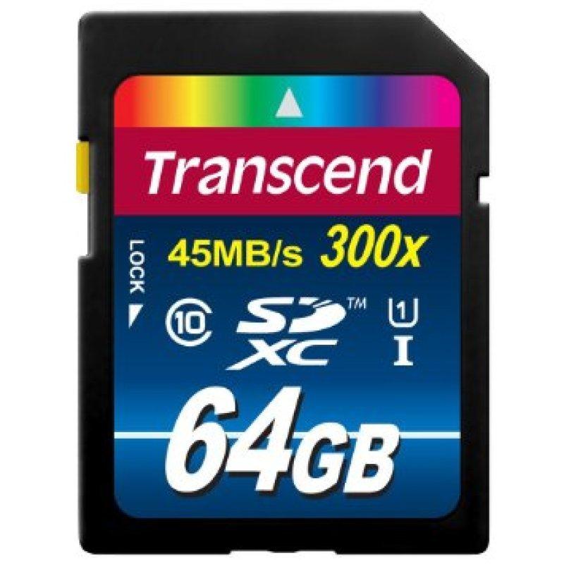 Transcend Premium 64GB SDXC UHS-IFlash memory card