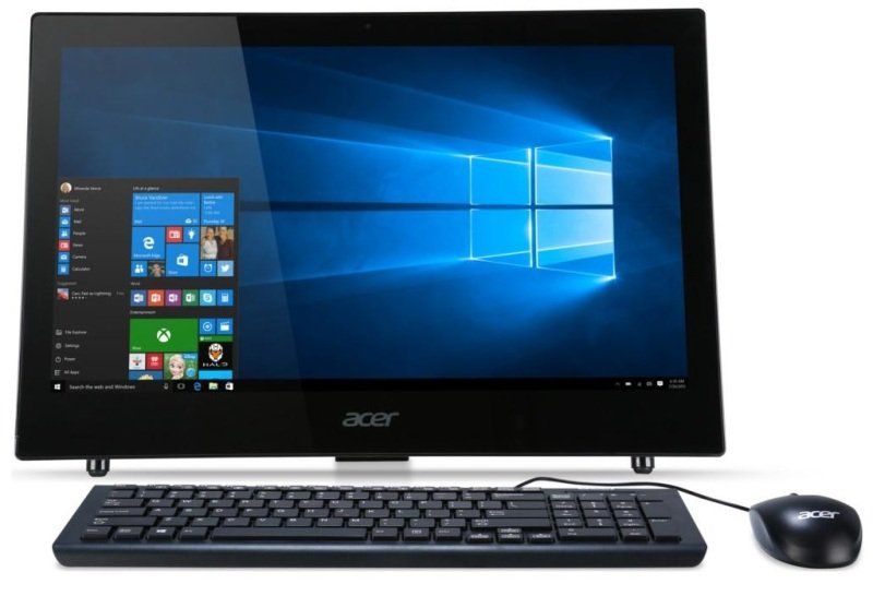 Acer Aspire Z1622 AIO Desktop PC Intel Pentium QC 4GB RAM 1TB HDD 21.5 FHD NonTouch DVDRW Intel HD Webcam Bluetooth WIFI Windows 10 Home