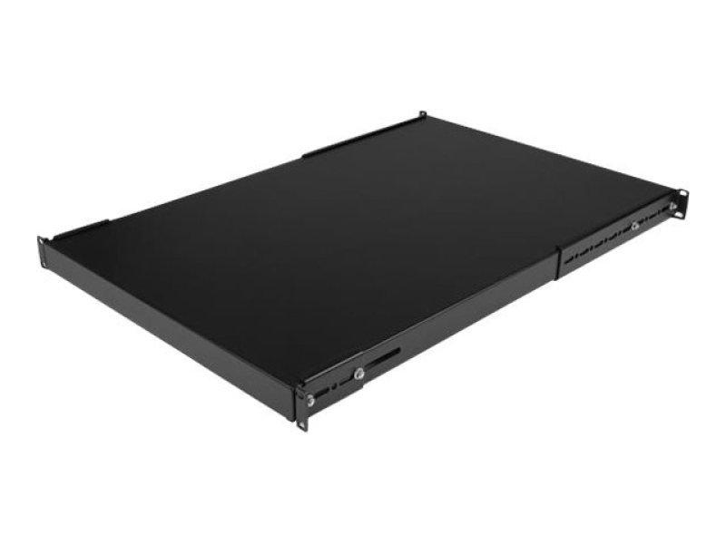 startech 1u 19 inch adjustable rack mount shelf heavy duty fixed server rack cabinet shelf. Black Bedroom Furniture Sets. Home Design Ideas