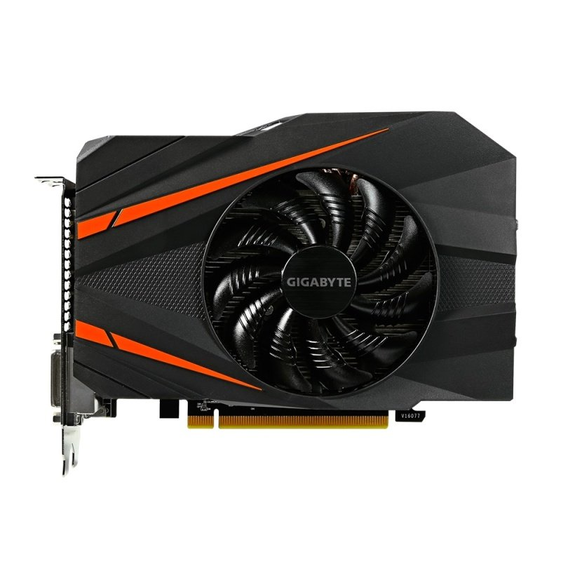 Gigabyte GeForce GTX 1060 Mini ITX OC 6GB GDDR5 Dual_LInk DVI-D HDMI DisplayPort PCI-E Graphics Card