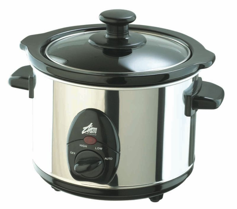 Team Slow Cooker 1 Litre Stainless Steel