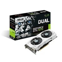 Asus GeForce GTX 1070 Dual OC 8GB GDDR5 DVI-D HDMI 2x DisplayPort PCI-E Graphics Card