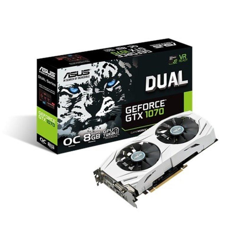 Asus GeForce GTX 1070 Dual OC 8GB GDDR5 DVID HDMI 2x DisplayPort PCIE Graphics Card