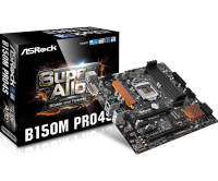 ASRock B150M Pro4S Socket 1151 DVI-D HDMI 7.1 Channel HD Audio Micro ATX Motherboard