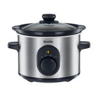 Breville Slow Cooker 1.5 Litre Brushed Stainless Steel 120w