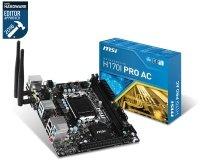 MSI H170I PRO AC Socket LGA1151 DVI-D HDMI 7.1-Channel HD Audio Mini-ITX Motherboard