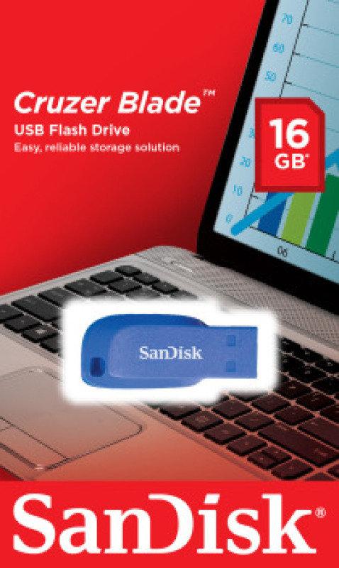SanDisk 16GB Cruzer Blade USB Flash Drive
