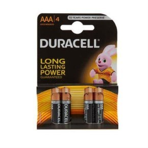 Aaa Duracell Batteries Pk4