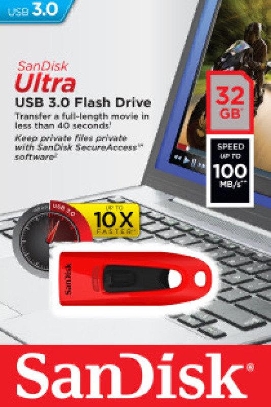 SanDisk 32GB Ultra USB 3.0 Flash Drive