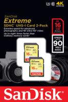 SanDisk 16GB Extreme SDHC UHS-I Memory Card