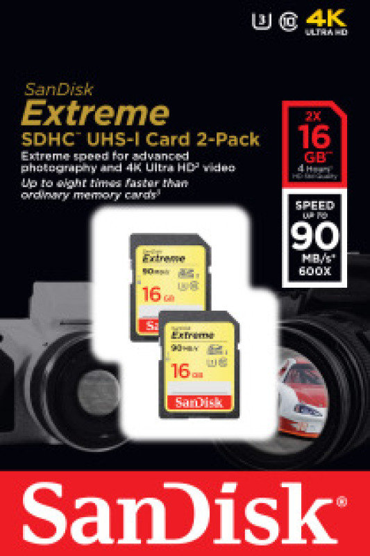 SanDisk 16GB Extreme SDHC UHS-I Memory Card