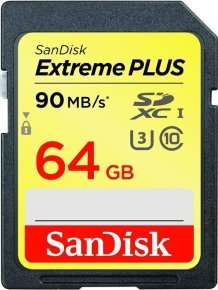 SanDisk Extreme PLUS 64GB SDXC UHS-I  Flash memory card