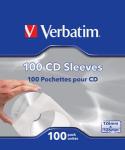 Verbatim CD Sleeves (Paper) 100pk
